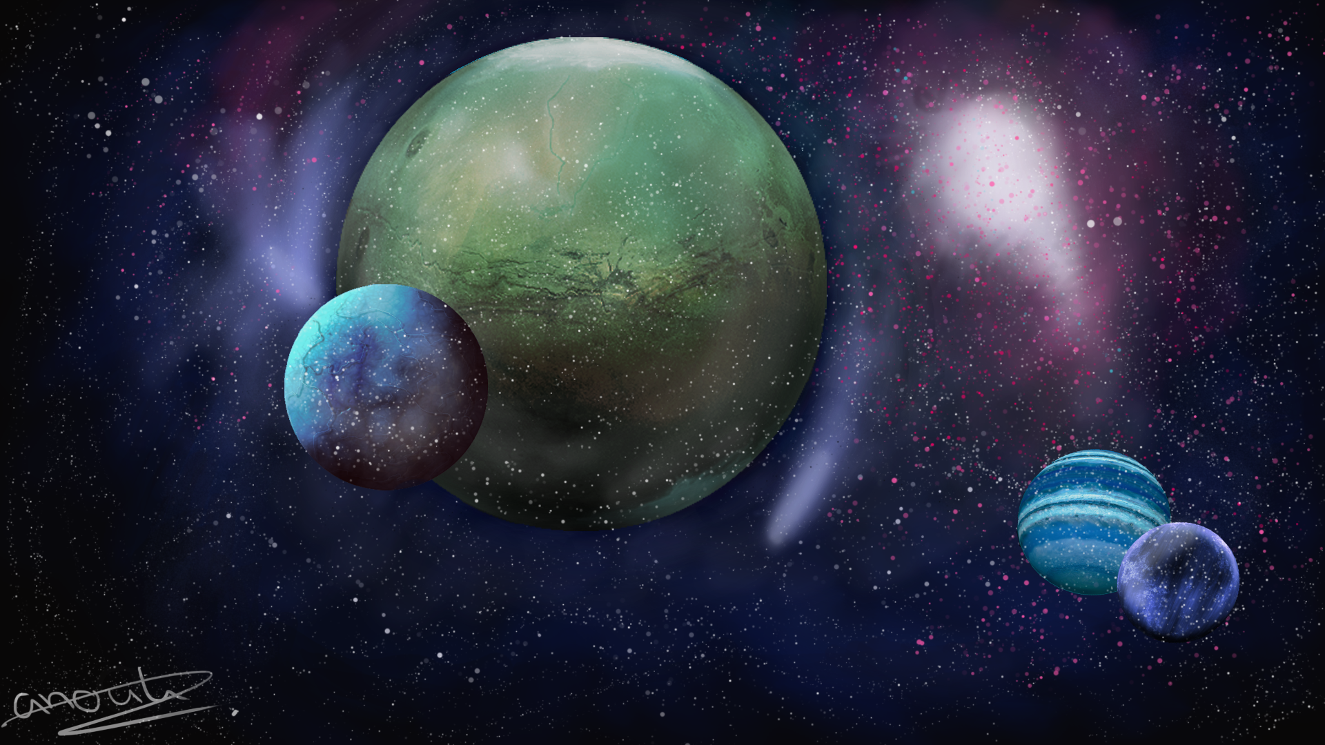 Made my first space - scene