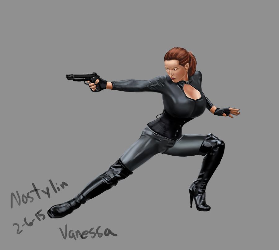 Vanessa Upton in latex