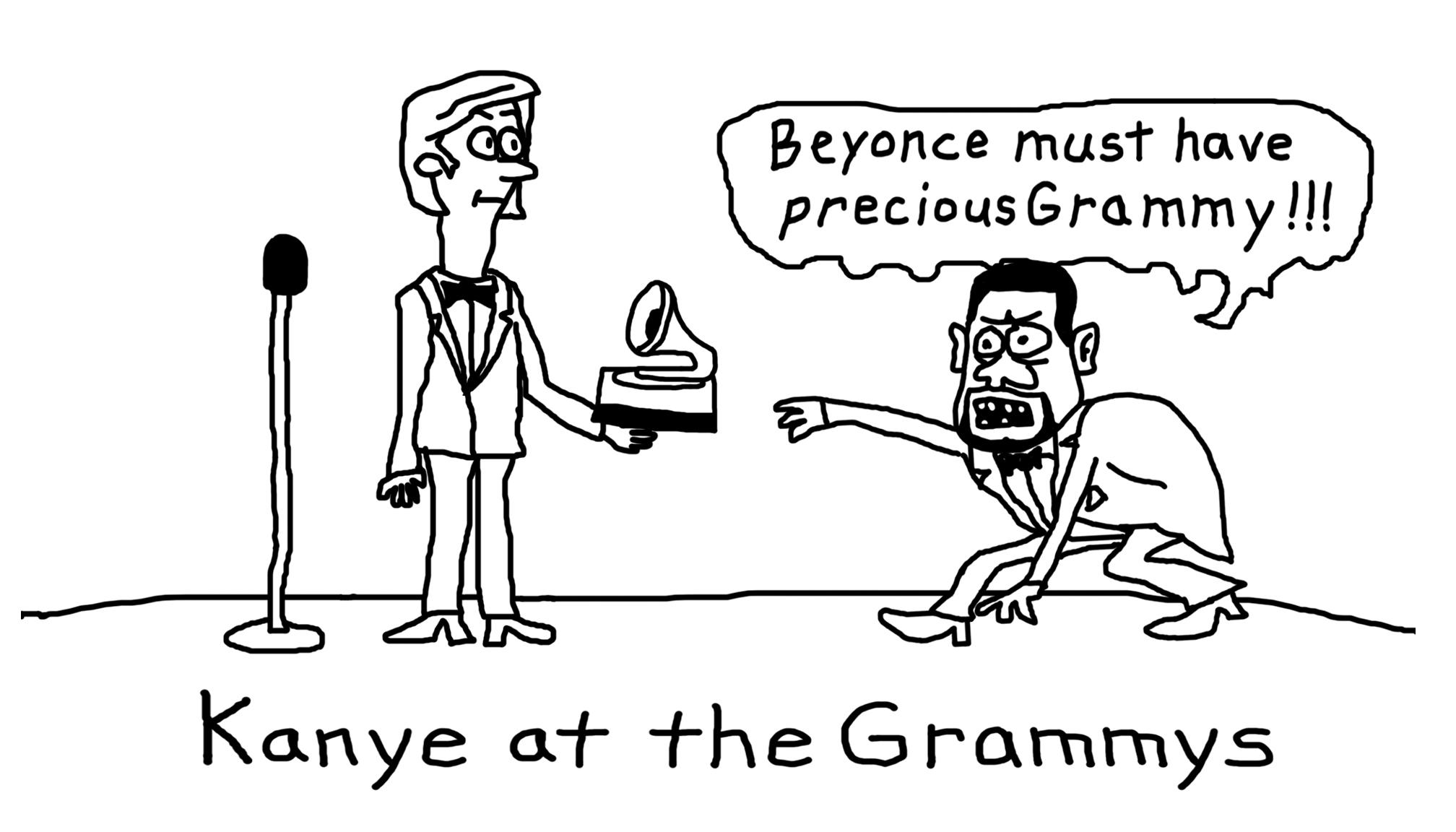 Kanye at the Grammys