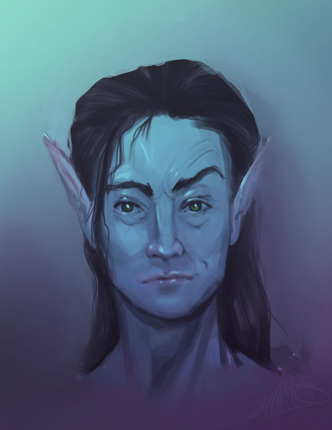Portrait of a Male Elf
