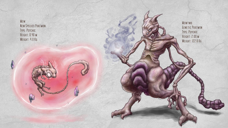 Mew & 2 - Pokemon Redesign