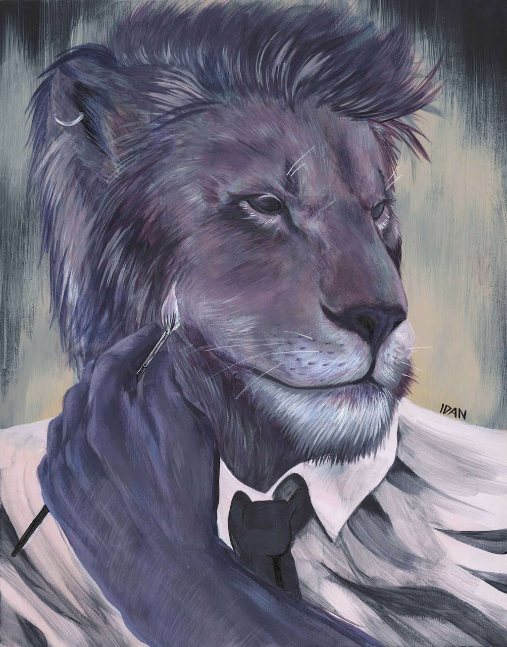lion dude painting