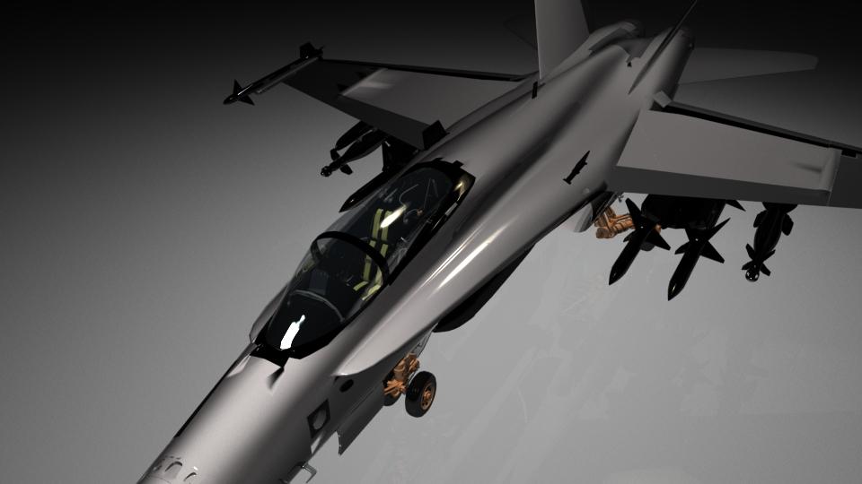 3D modelling: F18