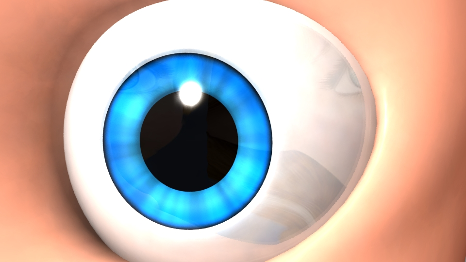 3D modelling: Disney Style Eye