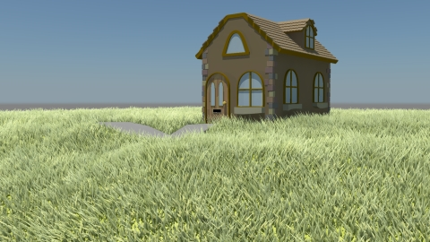 3D Modelling: House and Grass