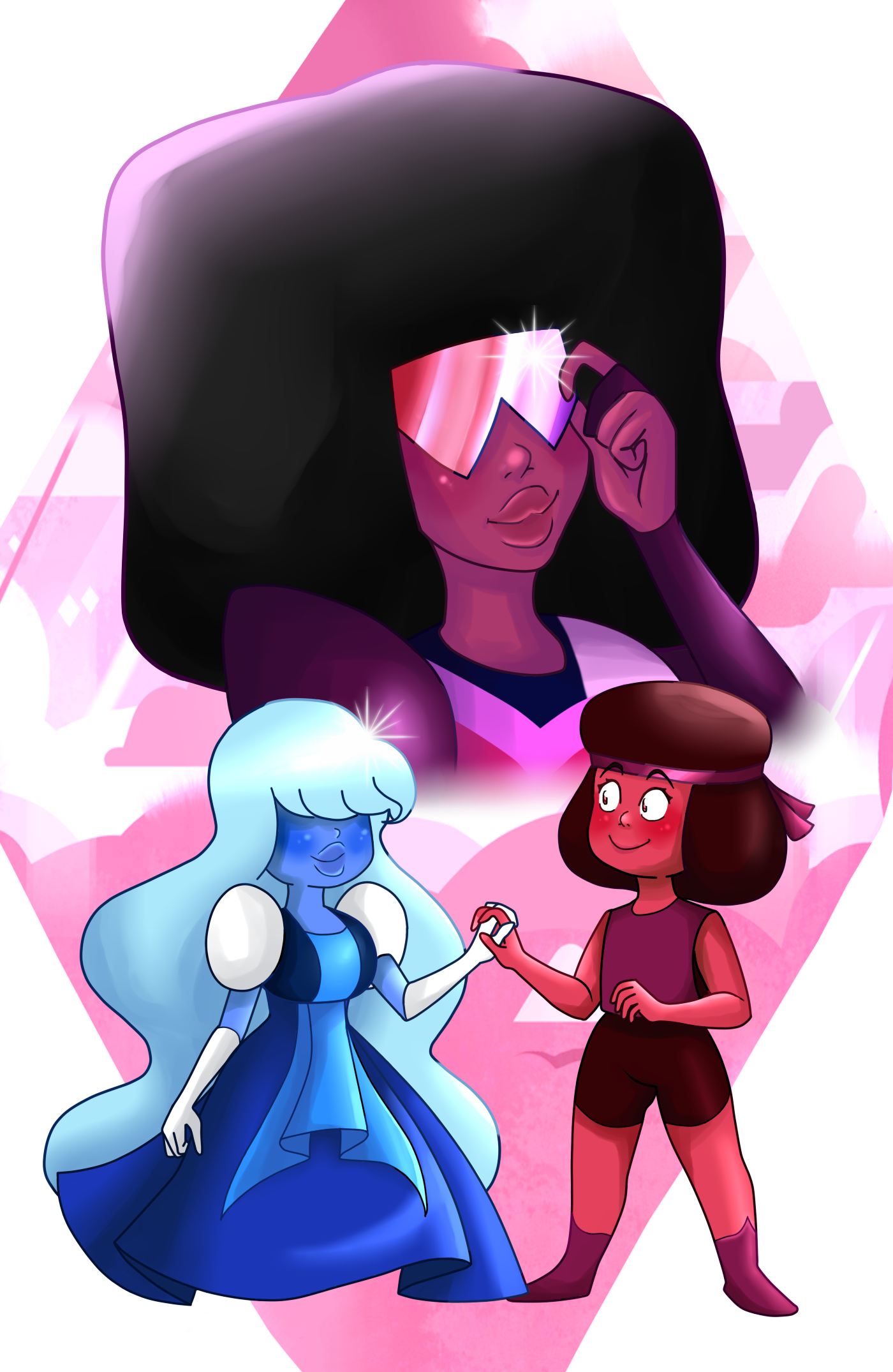 Ruby Sapphire with Garnet
