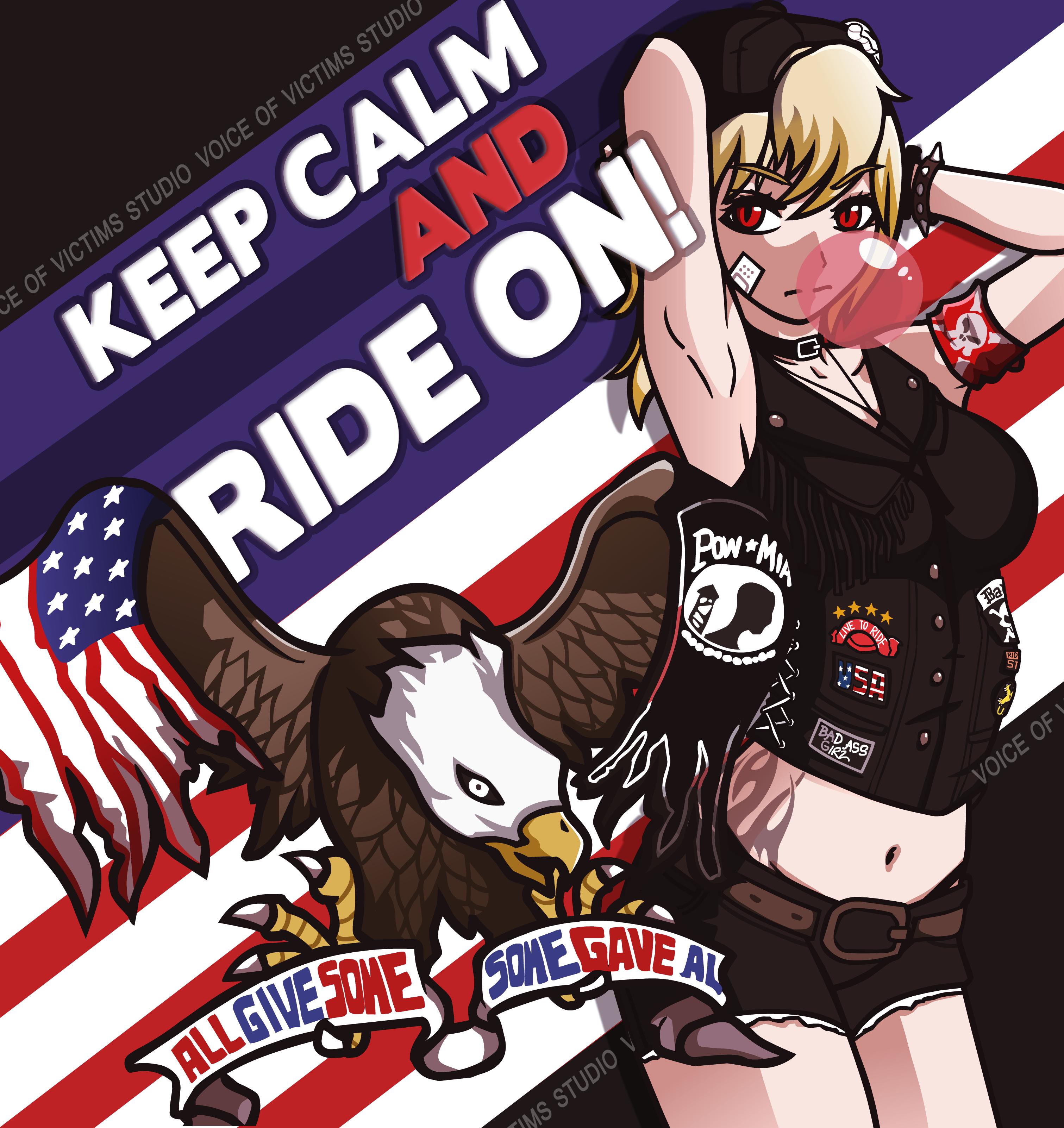 American biker girl