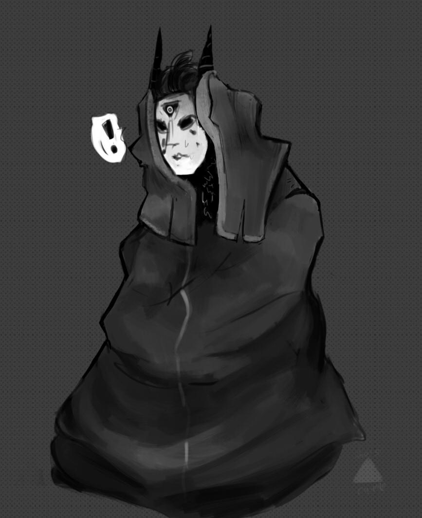 Demon in a blanket
