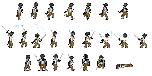 Swordsman Sprite Sheet 2