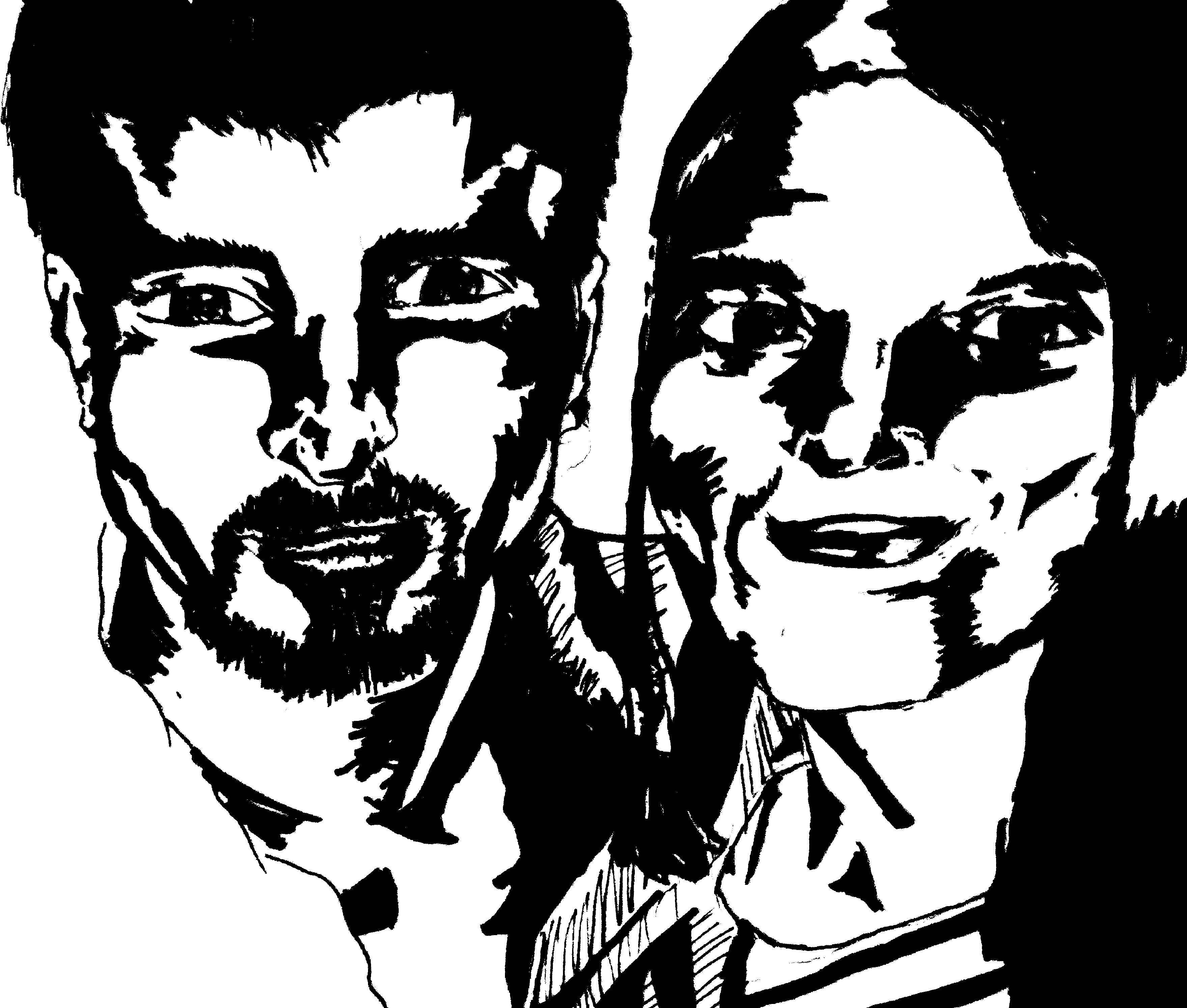 Portrait Inking, comic style.