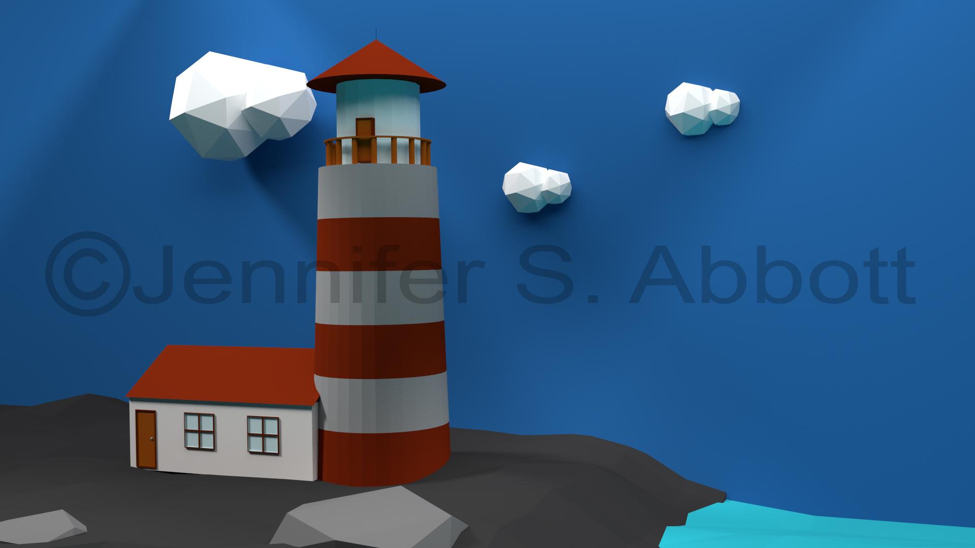 3D Lighthouse Scene