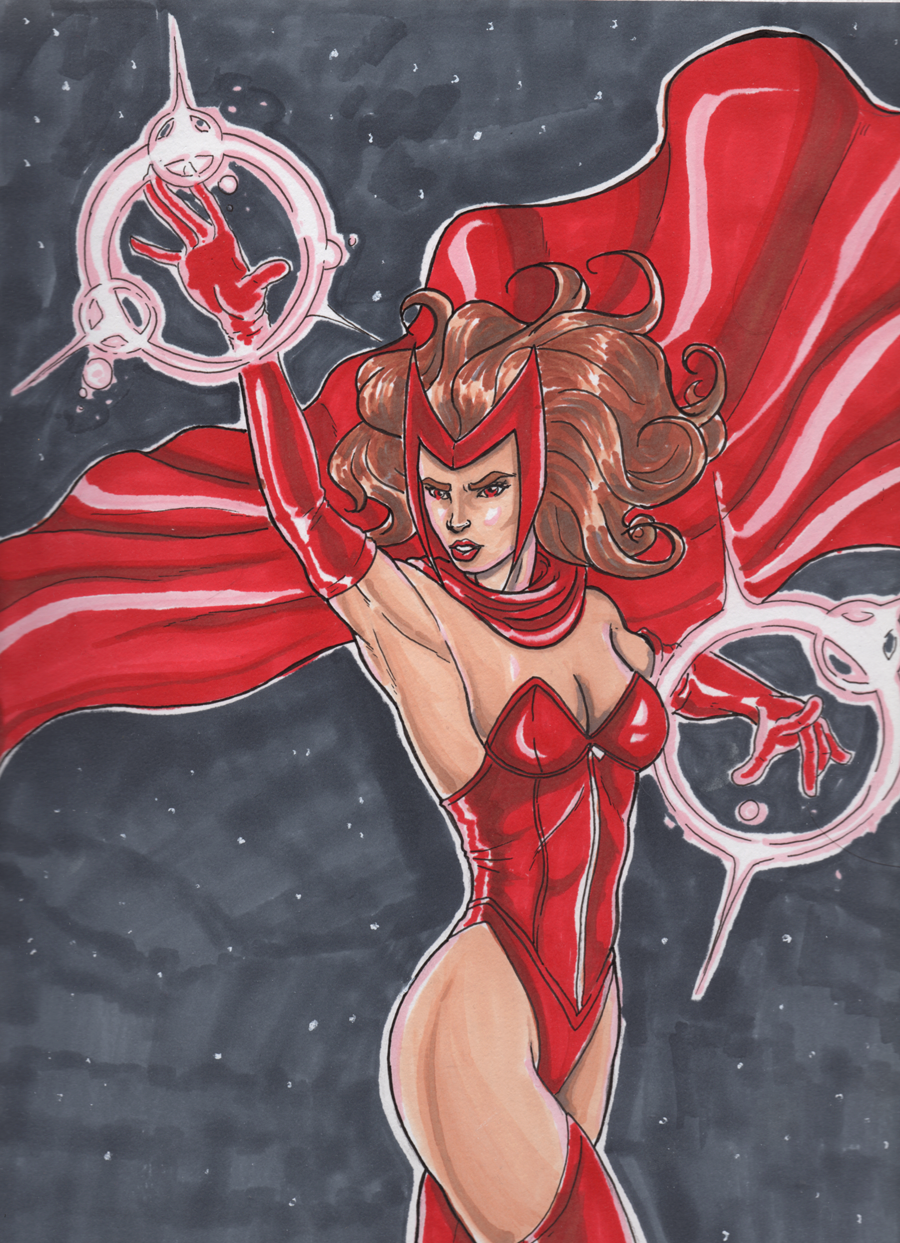 Scarlet Witch in Prismacolor