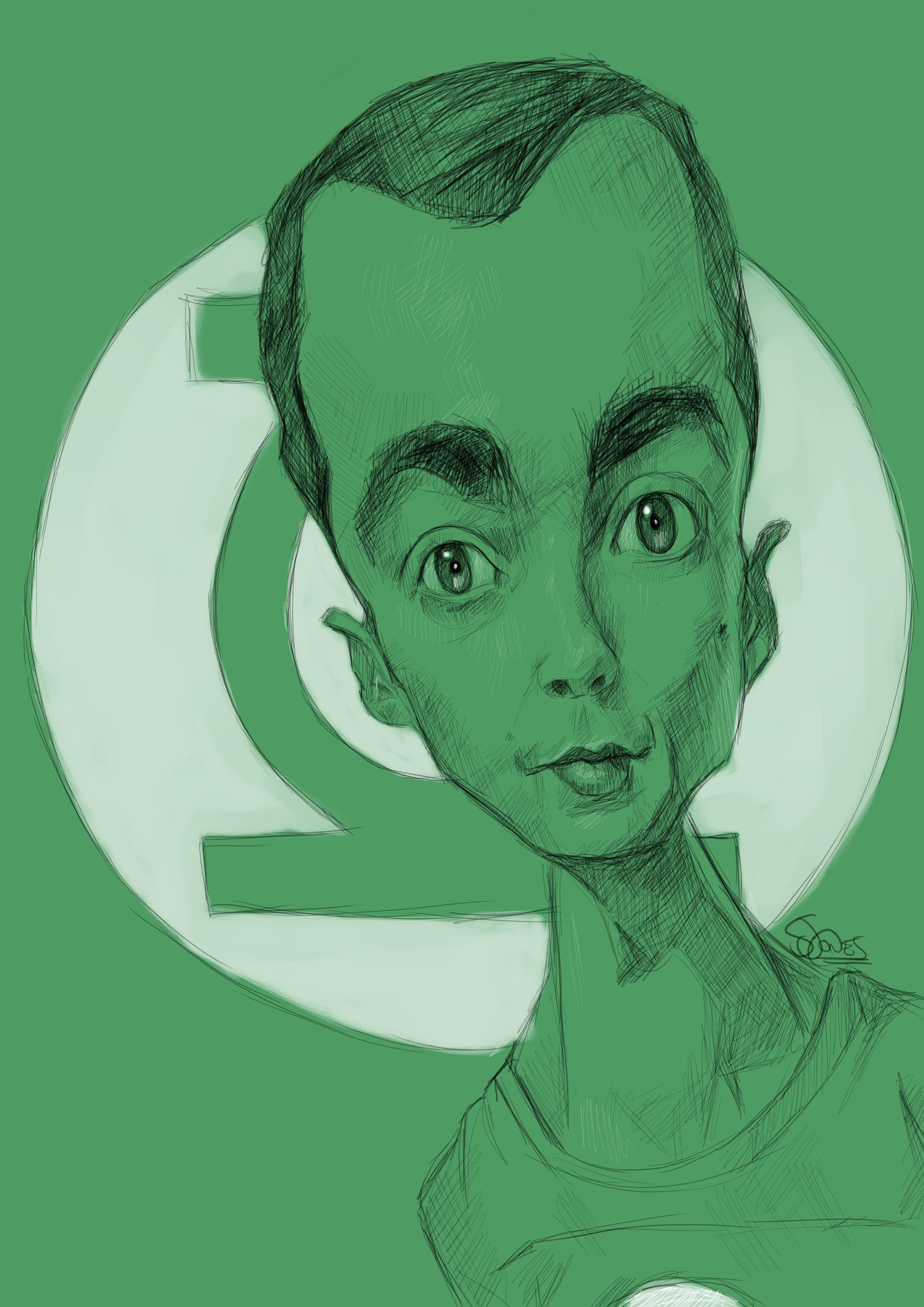 Sheldon Cooper Caricature