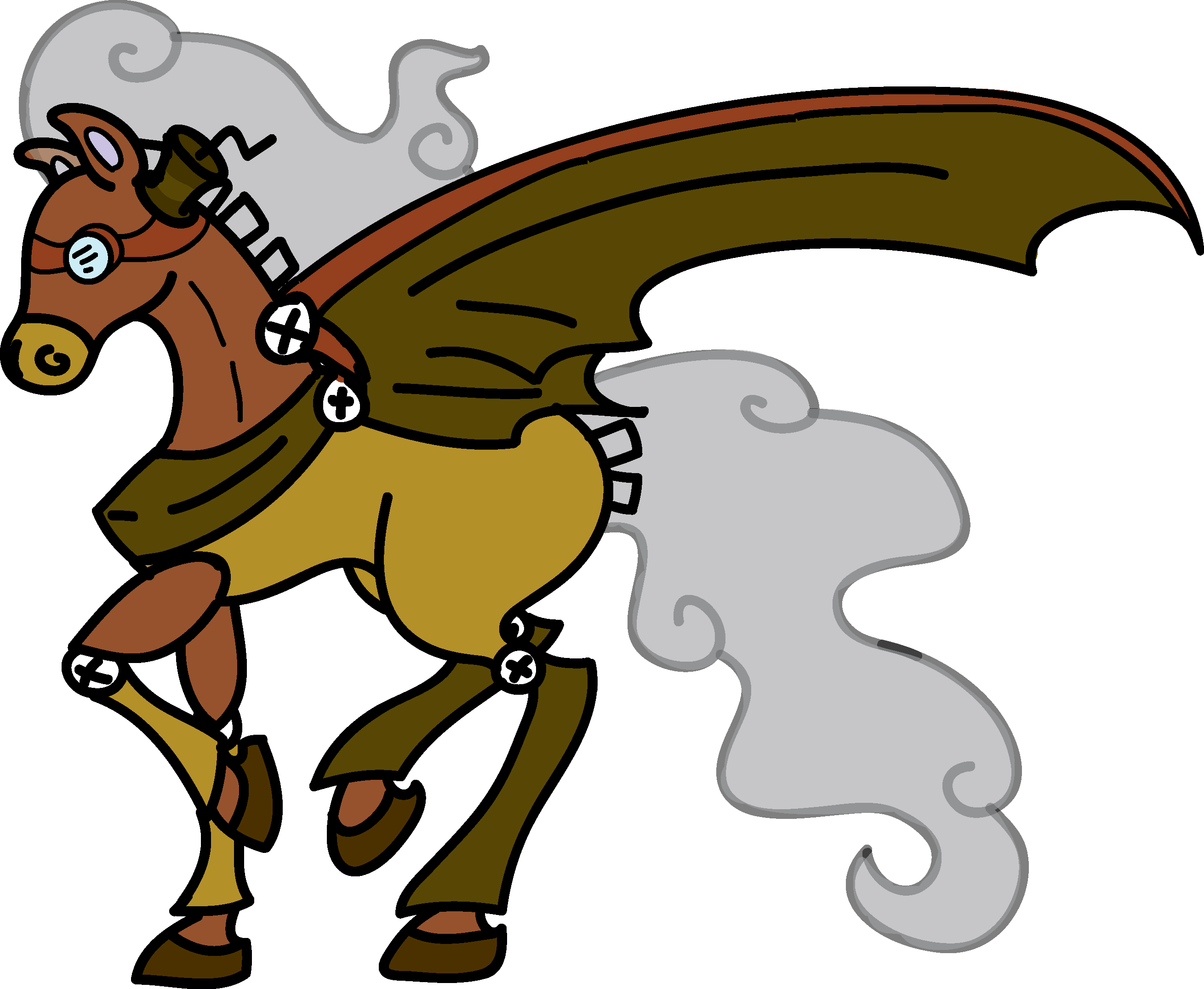 Steam Hooves Iron Fire Tomamon