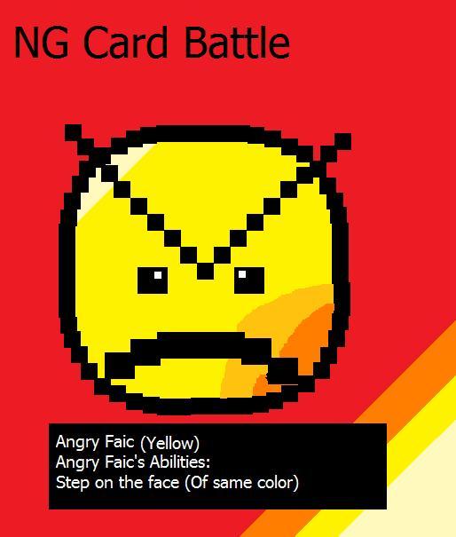Angry Faic On a card