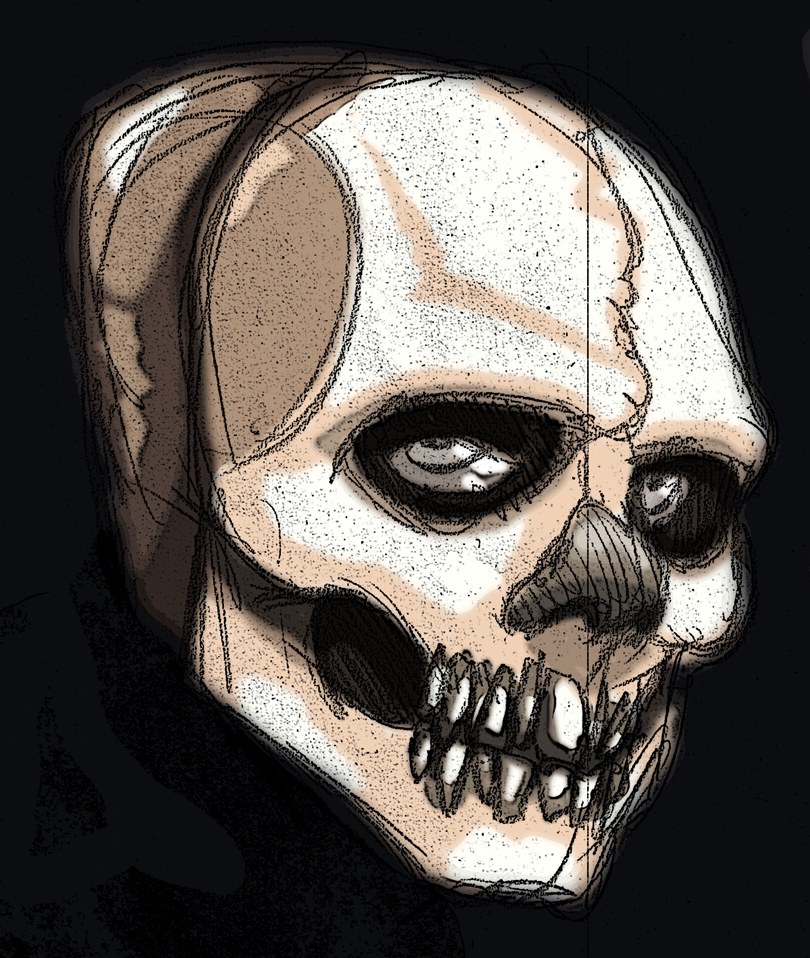 Number0 Skull with Nose Mask