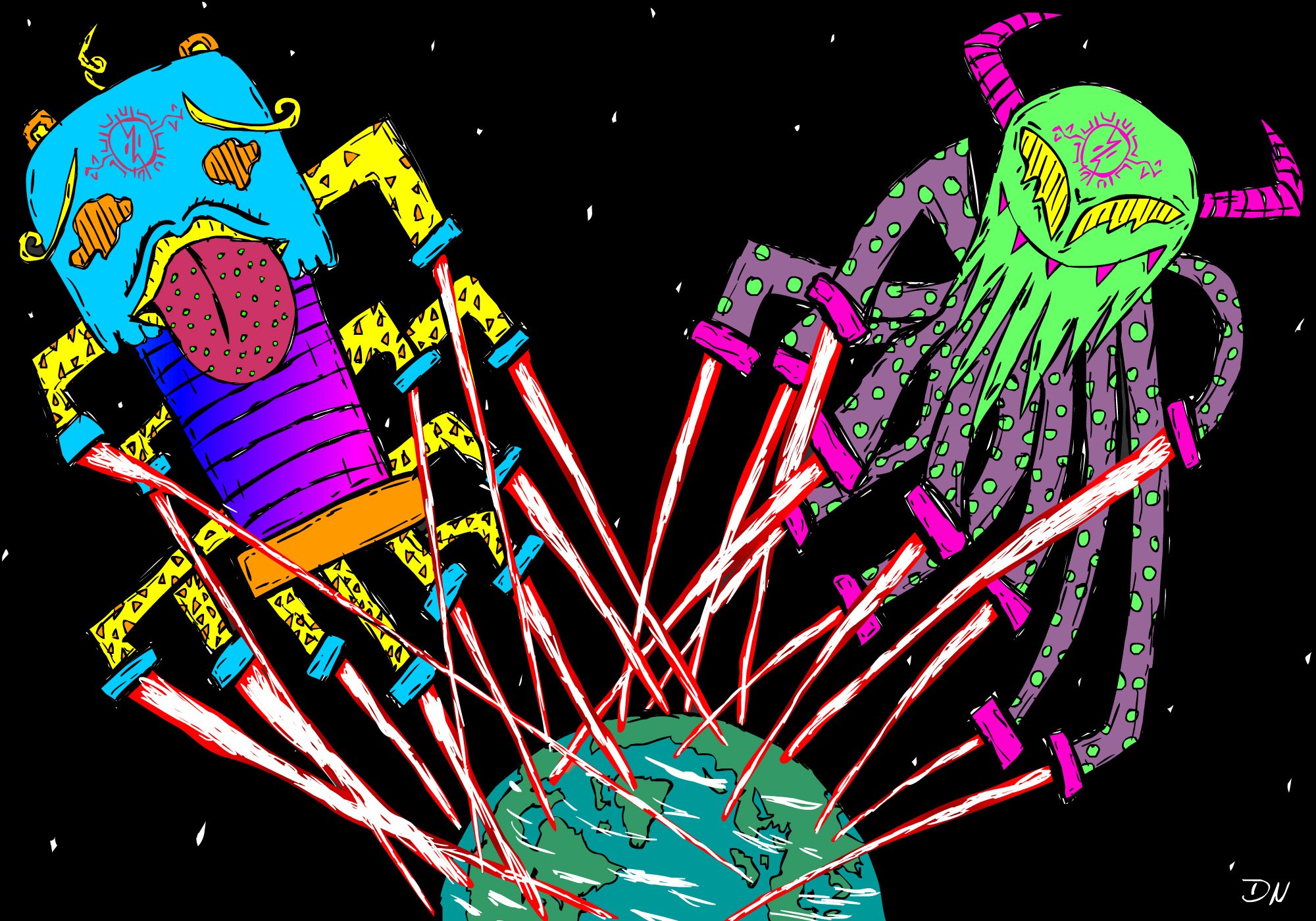 Space Invaders On Acid