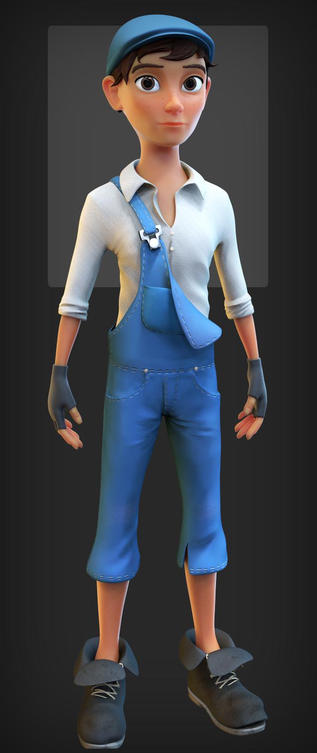 Morgan (male) character design