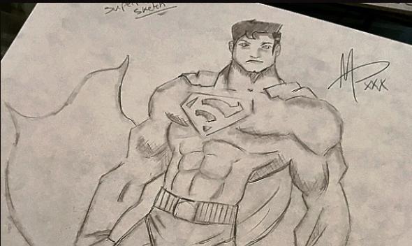 SUPERMAN V BATMAN SKETCH