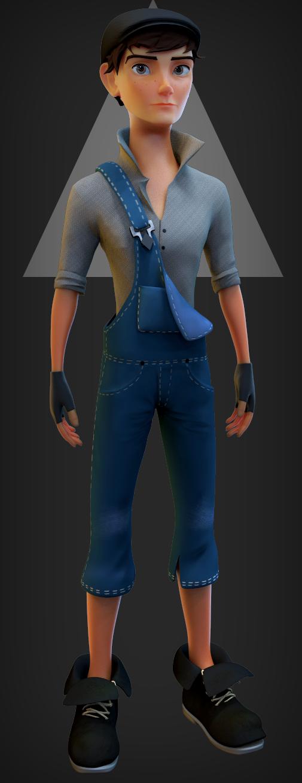 Alex (male) character design