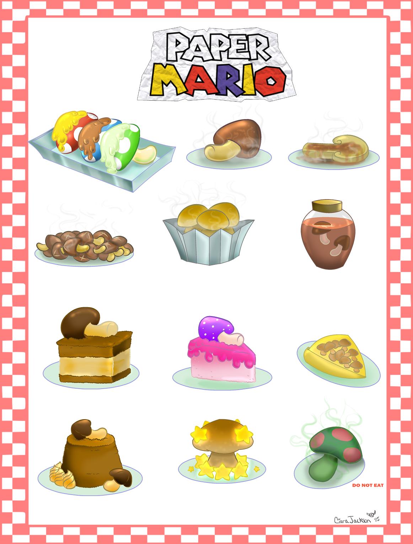 Paper Mario Mushroom Meals!