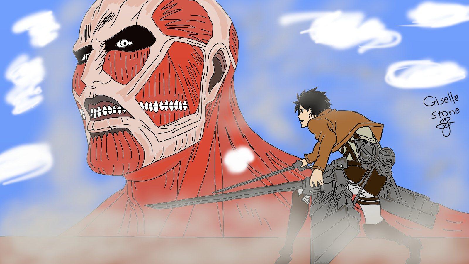 Eren and Titan fan art