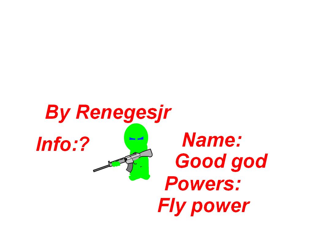 New Character:Good God