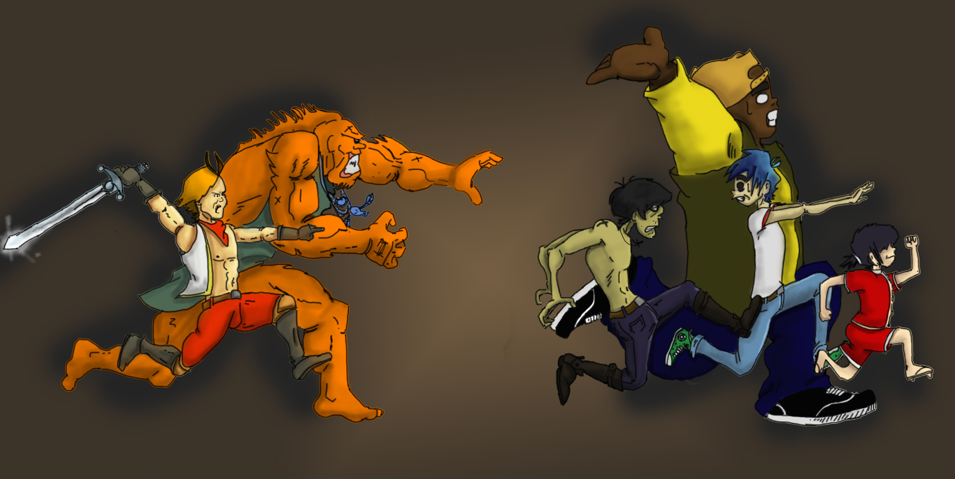 lanfeust vs gorillaz