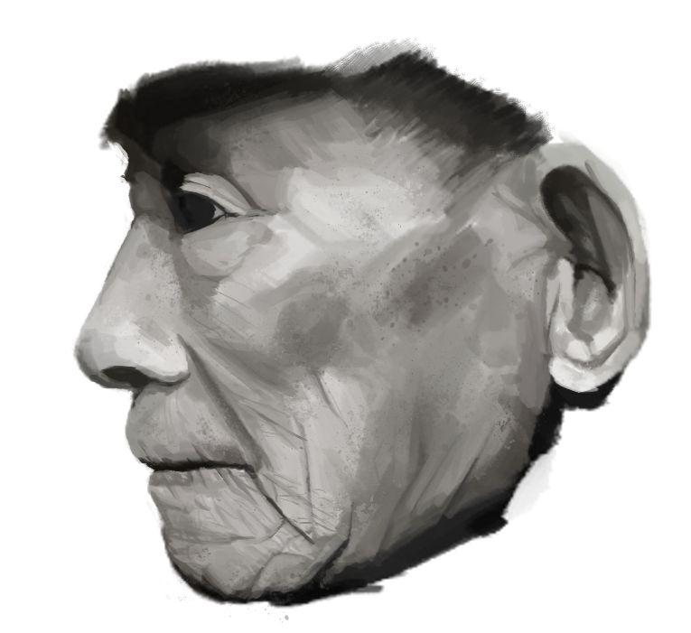 Portrait Practice: Old Man
