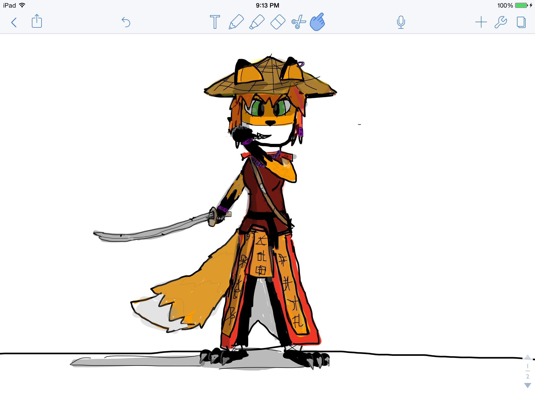 Fox girl samuri