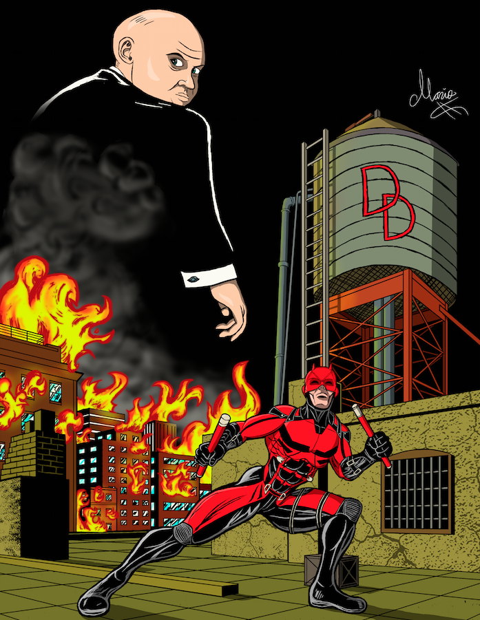 Netflix Daredevil Colored
