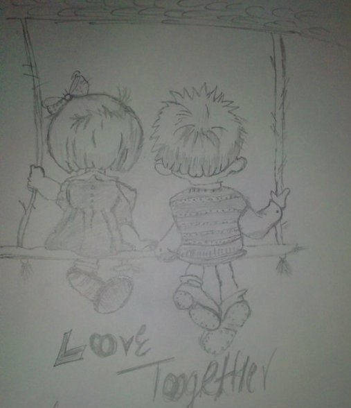 Couple Sketch Art In Making