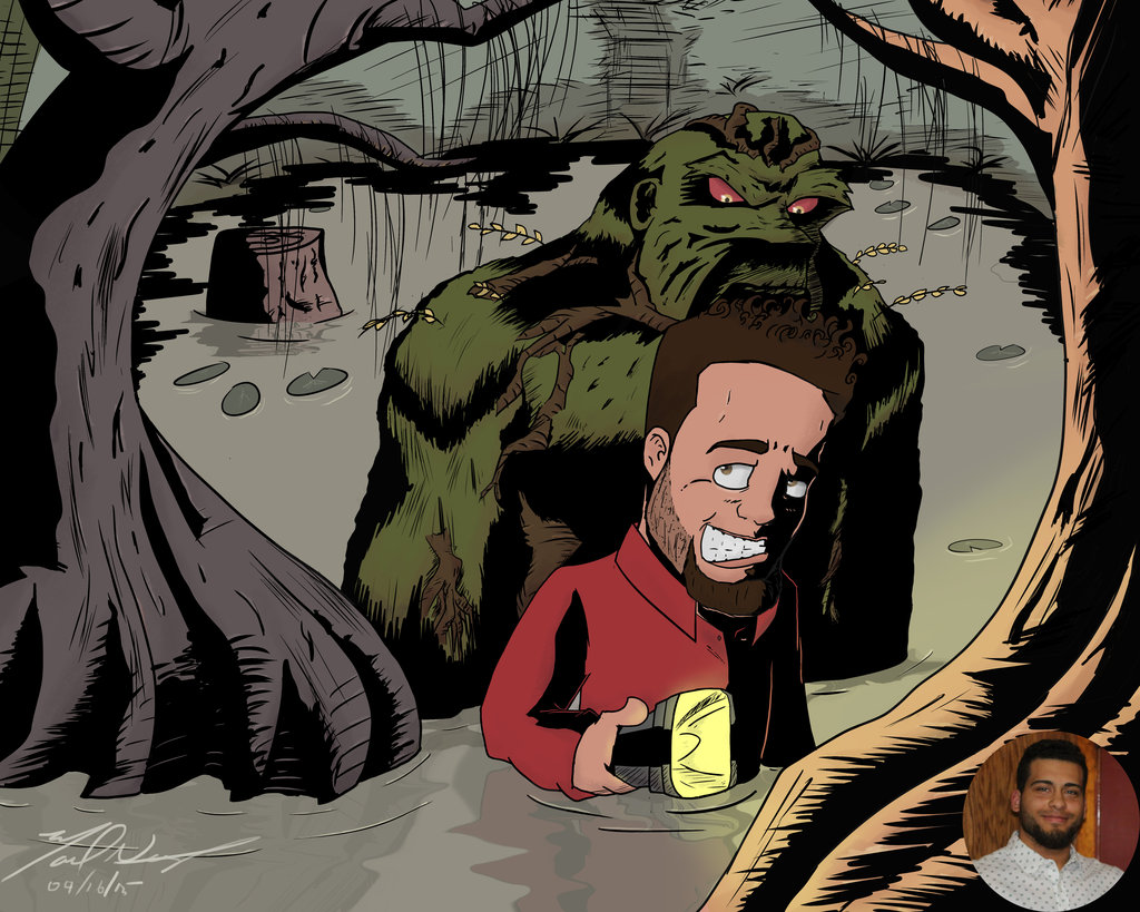 Swamp Thing look out