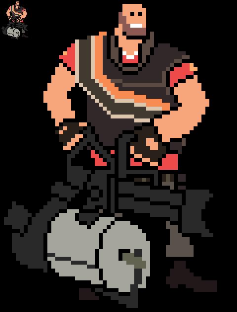 8-bit Heavy TF2