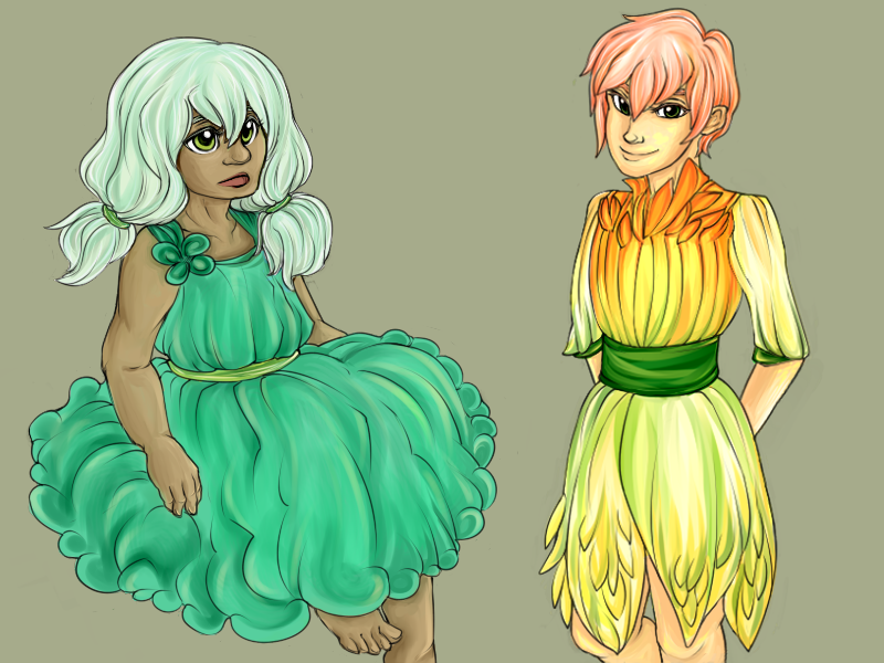 Clover and Daffodil