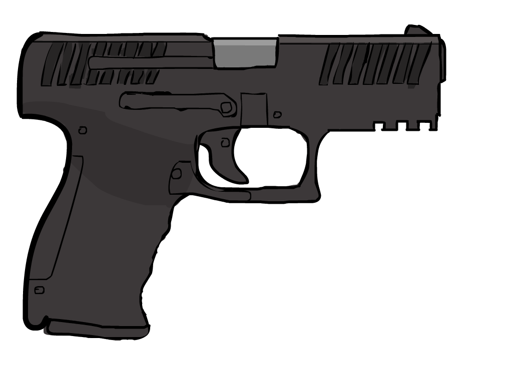Walther PPQ - Mouse Drawing