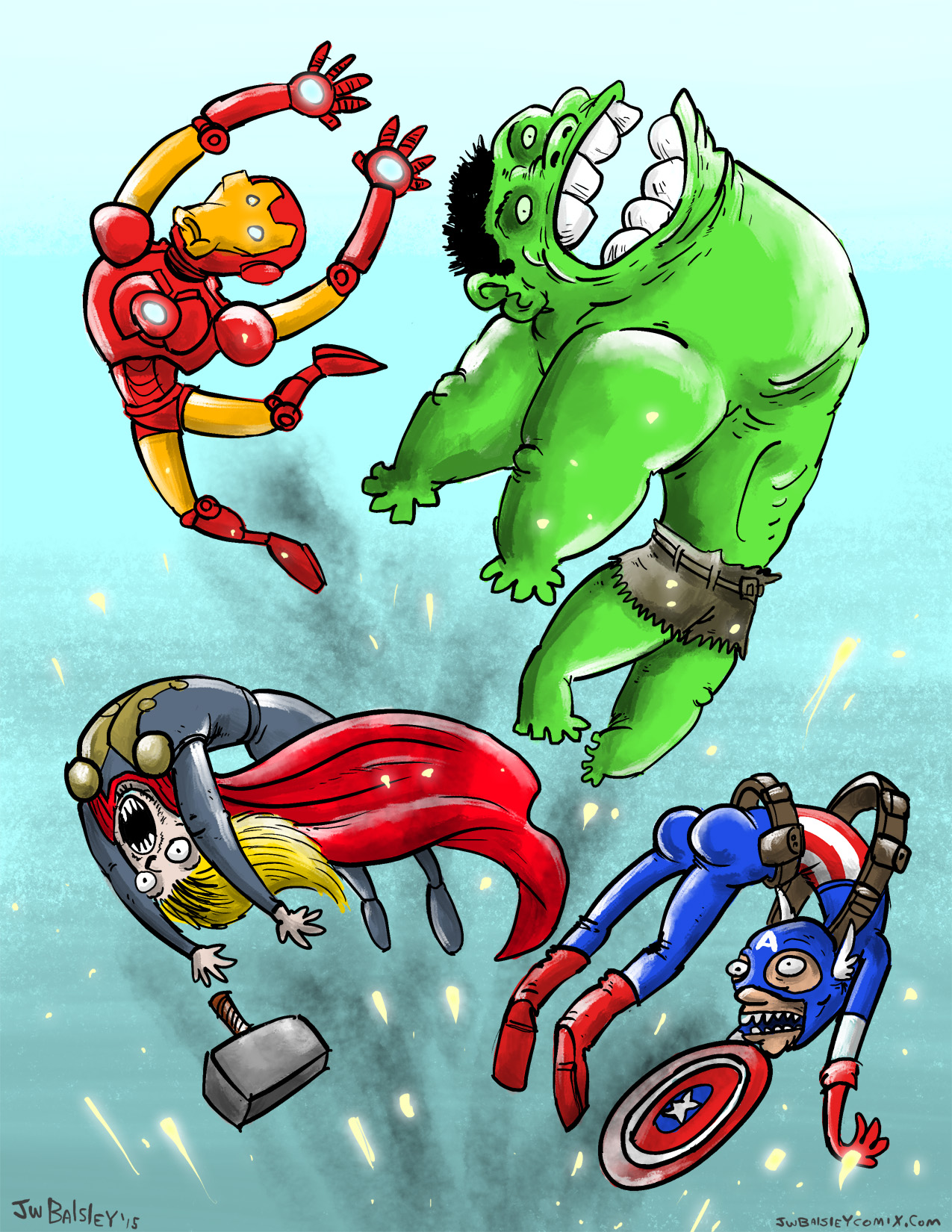Avengers in action!