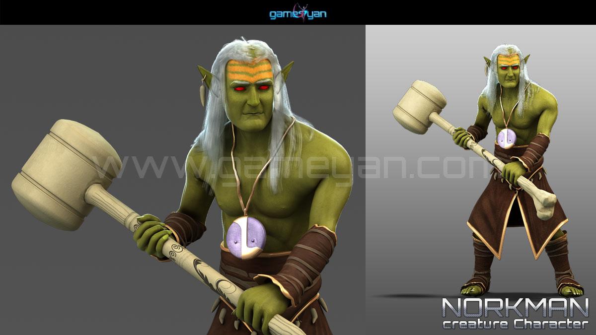 Norkman Character Animation