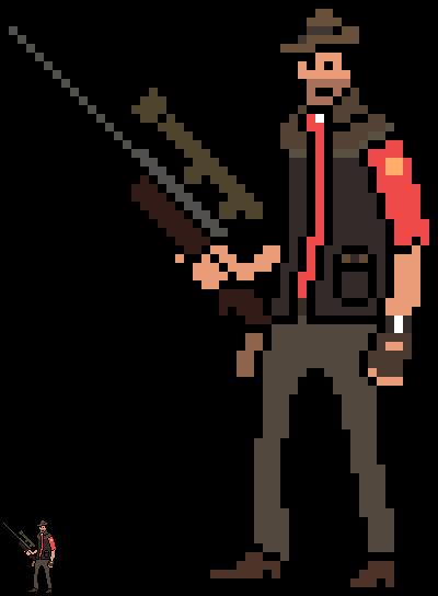 8-bit Sniper TF2