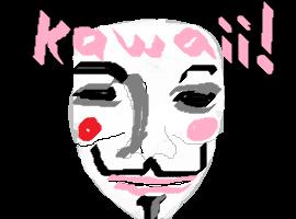 Kawaii Guy Fawes mask