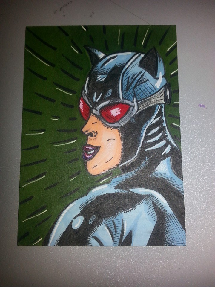 catwoman sketch card