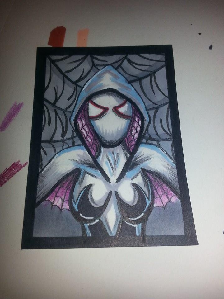 Spider Gwen Sketch Card