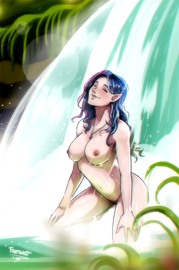 Kerri in Waterfall