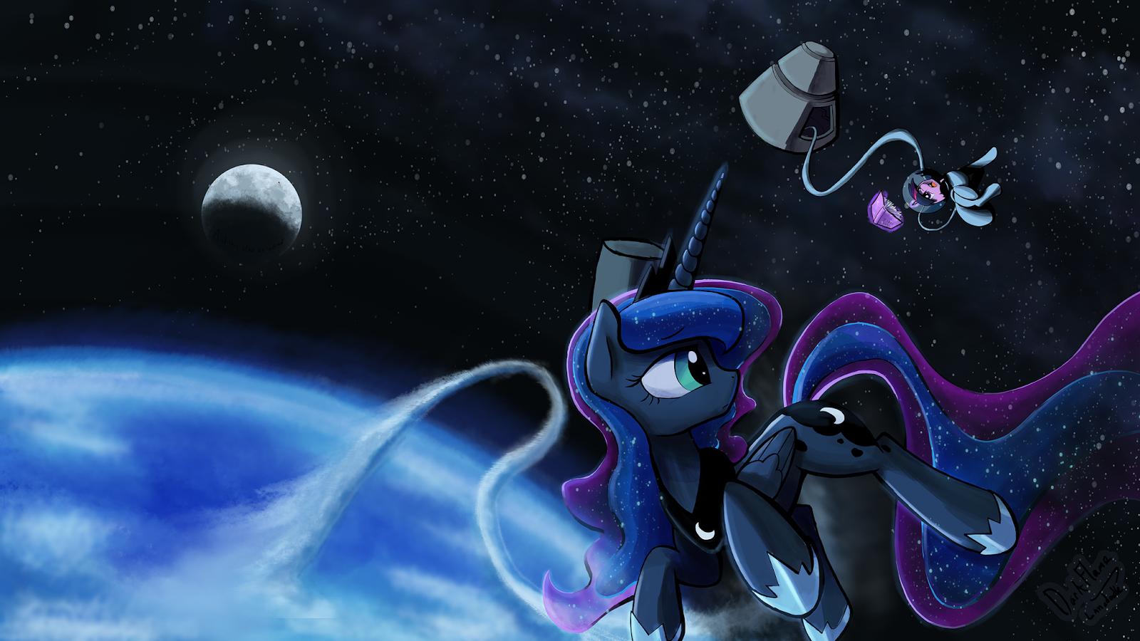 Space Princess Luna & Twilight