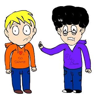 Two Friends Cartoon