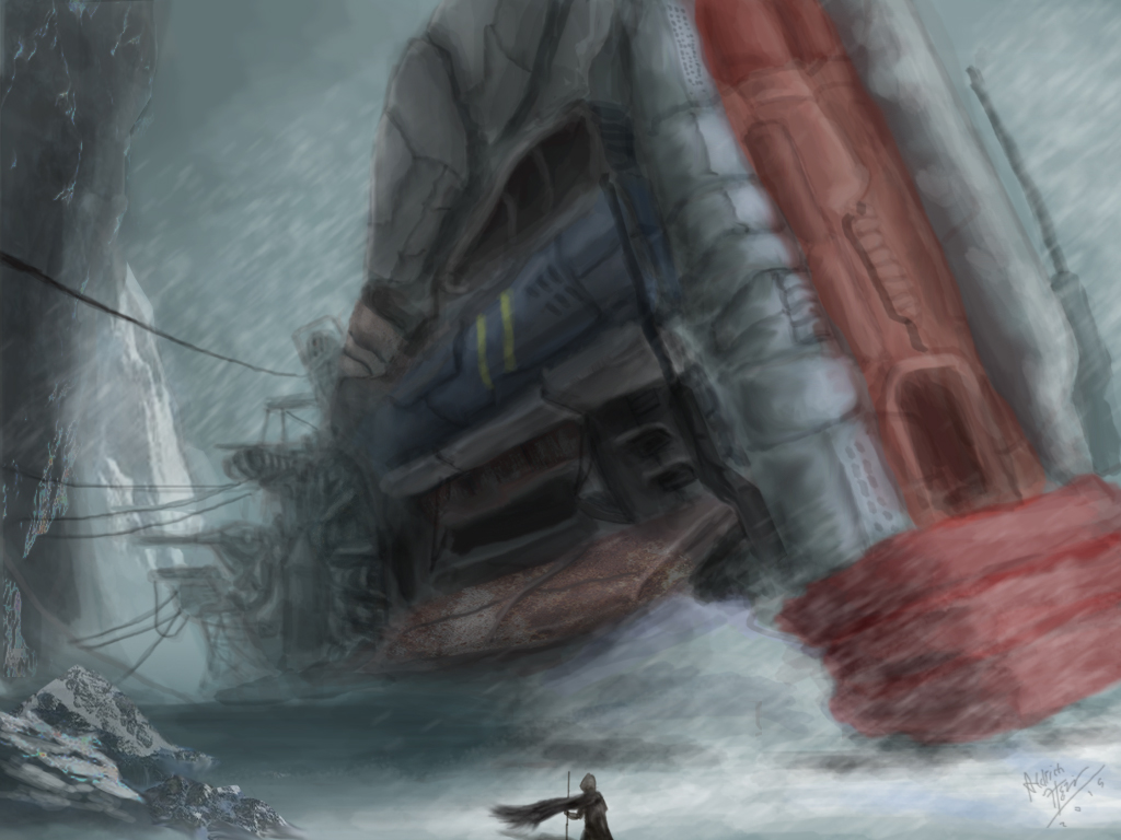 Fallen Starship
