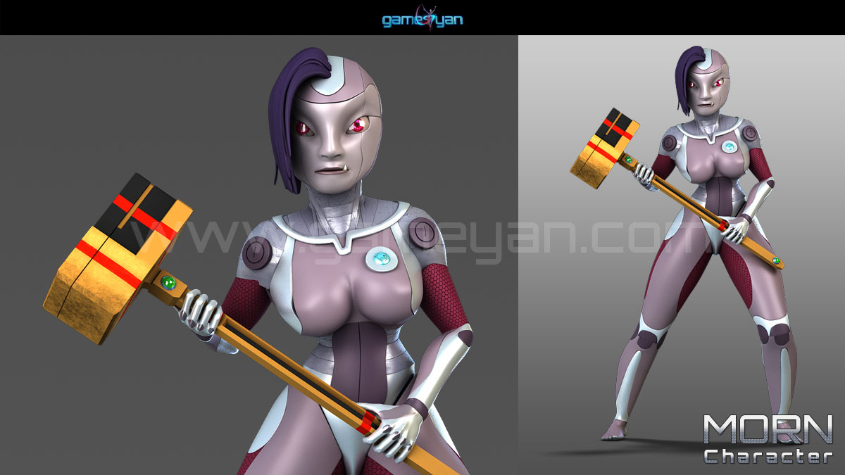Morn Cartoon Character Modeling