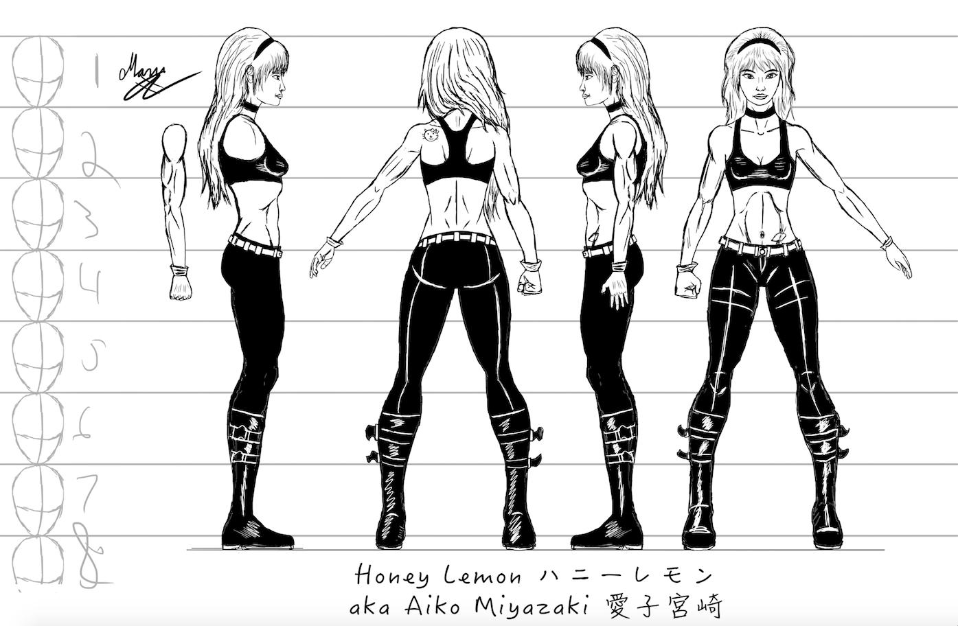 Honey Lemon Character Sheet #1