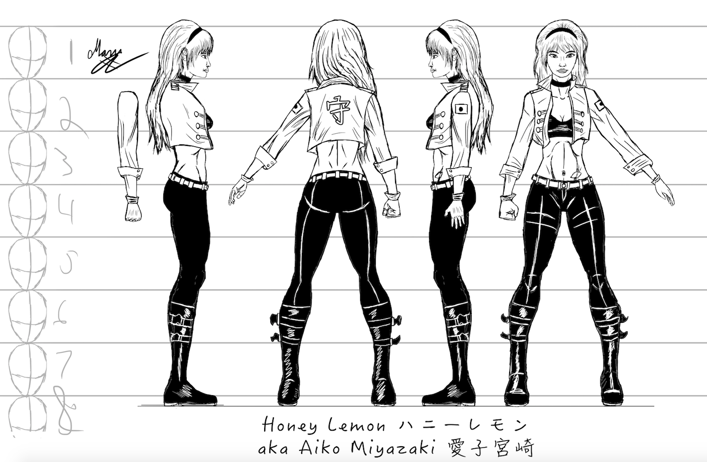 Honey Lemon Character Sheet #2