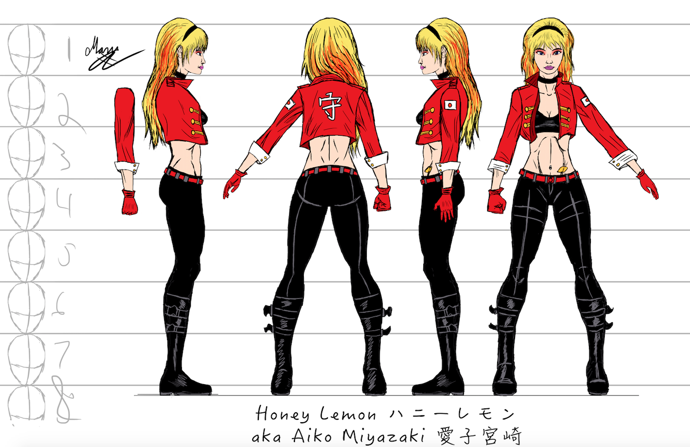 Honey Lemon character sheet #4